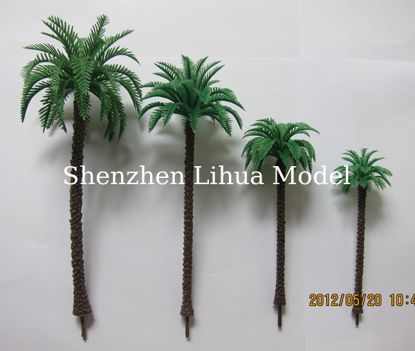 scale model coconut tree,model fake tree,miniature artificial tree,fake trees,model stuffs,plastic coconut trees