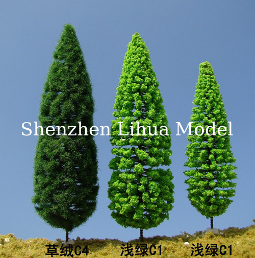 1:150 fake pine tree,model trees,miniature artifiical trees,mode materials,fake trees,scale model pine trees