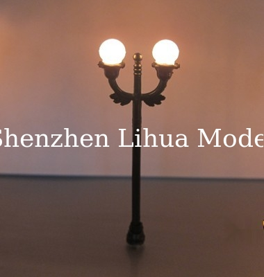 model lamp with double heads,scale lamps,architectural model lamp ,model stuffs,model materials,model lights