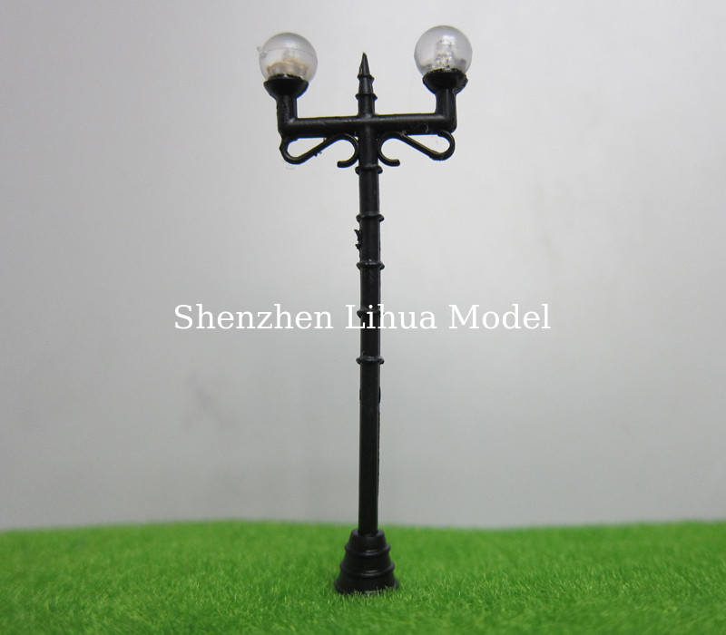 model 1:100 plastic lamp pole,1:150 plastic yard light,LED light scale lamp,model light,build lamppost