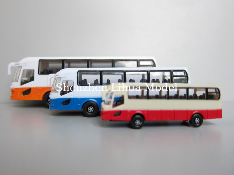 model plastic bus (without light),miniature model scale bus,N guage model bus,model materials,plastic buses