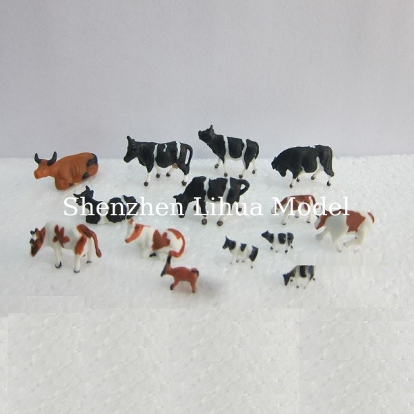 1:150 color cattle,model animal,painted cattle,ABS model cow,HO figure,HO animals,color cows,HO animals