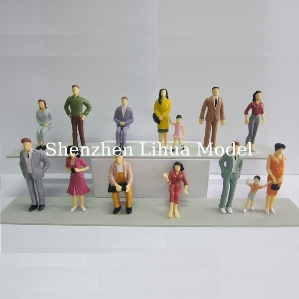 1:25 color figure,model figures,scale figure,painted figures,ABS figure,G gauge people,plastic mini  figures