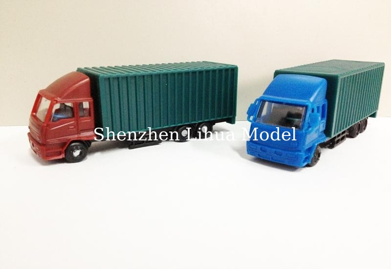 scale model goods van,1:150 model van,1:100 model truck,miniature scale good van,model van,architectural model van