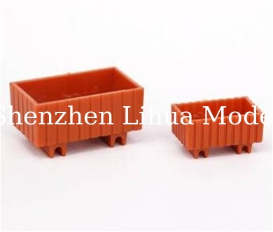 ABS Square rectangular flower bed,model scale sculpture,1:25 plastic flower pots,model stuffs,model accessories