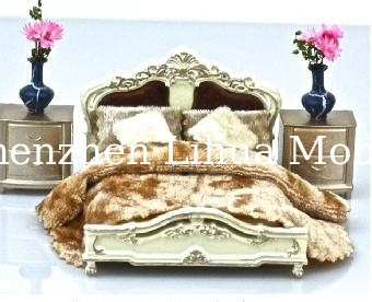 European style bed-scale model bed,model furnitures,architectural model materials stuffs