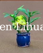 model potted plant-model material,decoration flower,artificial pot,1:20,3CM potted plant