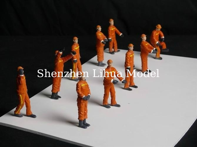 color oilman  figures,1:20 color  oil workers ,scale people,model figures,1:20 color people,model stuffs,ABS people