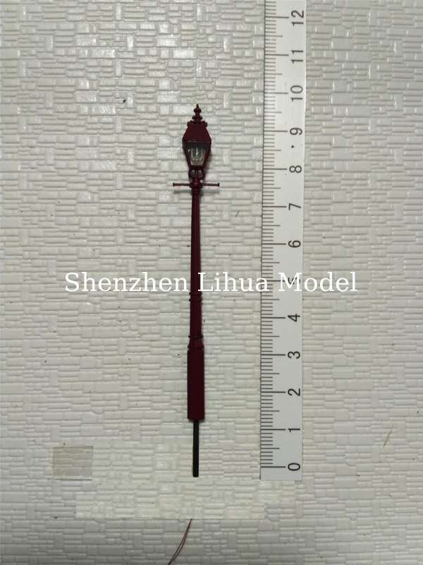 1:87 model metal yard  lamppost,1:150 scale street light,1:100architectural model lamp,model materials
