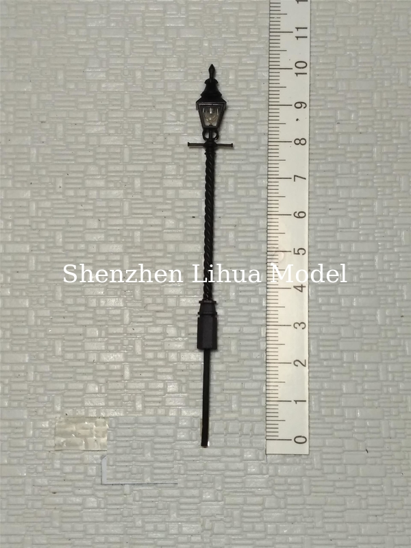 model metal street lamppost, 1:150 scale street light,1:100architectural model lamp,model materials