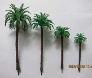 plastic 1:150 coconut tree--model tree,mini plastic tree,architectural model palm  trees,plastic coconut trees