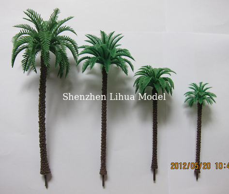China 1:150scale model coconut trees,model fake tree,miniature artificial tree,fake trees,model stuffs,plastic coconut trees distributor