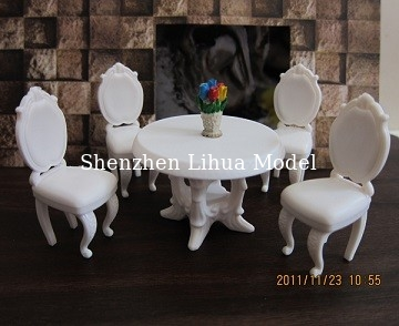 China dinning table and chairs,model scale table,model chairs,Model House furniture scale 1:50 model chairs factory