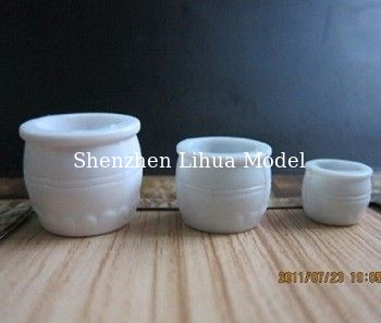 China model scale flower pot,model scale sculptures,ABS scale flower pot,model stuffs,landscape flower pot distributor