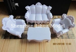 China European style sofa,scale model sofa ,model furnitures,architectural model materials factory