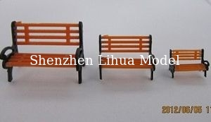 China model park chairs,model scale chairs,architectural model accessories,fake park bench,fake chairs,model stuffs factory