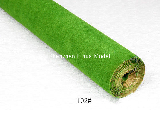China 102#(light green) grass mat,architectural model materials,landscape material,grass mats,model stuffs distributor