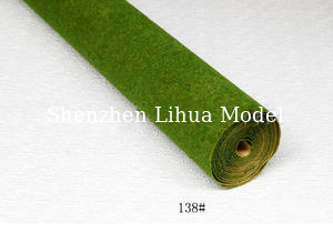 China 138#(yellow green) grass mat,architectural model materials,simulation turf,grass mats distributor