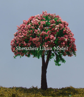 China mini flower tree,model plastic trees,miniature artificial trees,model materials,fake trees,model stuffs factory
