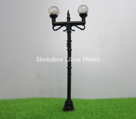 China model 1:100 plastic lamp pole,plastic yard light,LED light scale lamp,model light,build lamppost distributor