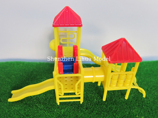 China model outdoor materials,model mini children slide,model stuffs ,playground equipment figures,scale slides factory