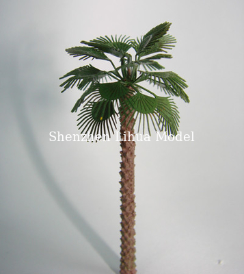 China 1:150 copper palm tree,1:50 model metal tree,miniature artificial tree,metal model palm trees,building model trees distributor