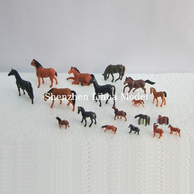 China 1:150 color horse,model animal,model horse,model materials,HO animals,painted horses,colorful horses distributor