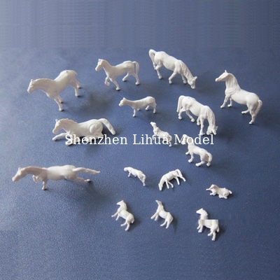 China 1:87 unpainted horse,model animals,white 1:87 horse,scale models,HO horses,HO animals distributor