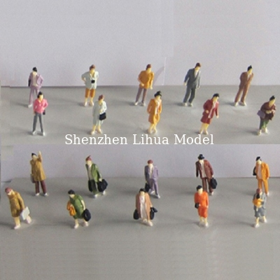 China 1:87 boutique standing figure,miniature figures,painted figure,color people,HO figures distributor