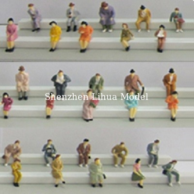boutique 1:87 seated figure,scale figures,1/87 figures,model people,color HO figures,scale people,model train people