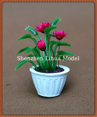 China 1:20model potted plant,model material,decoration fllower,artificial pot,1:25,3CM potted plant factory