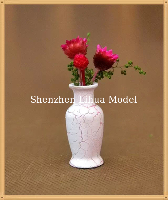 China model flower vase--model scale sculpture ,miniature flower pots,ABS flower vases,1:20,1:25 distributor