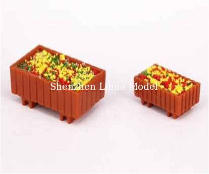 China ABS Square rectangular flower beds---1:100model scale sculpture,plastic flower pots,model stuffs distributor