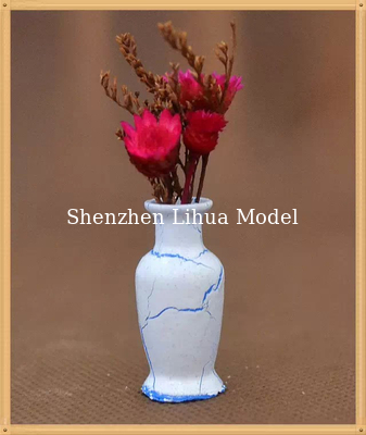 China model flower vase--model scale sculpture ,ABS flower vases,G vase,doll decoration factory