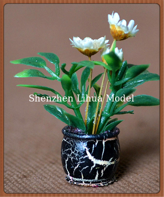 China model potted plant-----1:25doll decration,decoration follower,artificial pot,G scale potted factory