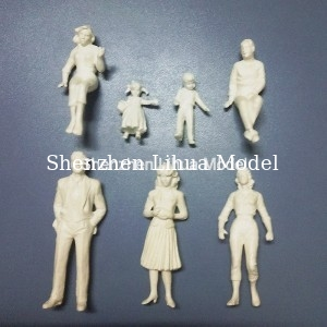 China 1:25 white figures,scale figure,architectural model people,scale people,G gauge people,ABS figures distributor