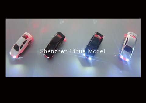 China color car (with light),1/87 miniature scale car,HO light car,1:87 model lighted car,model stuffs,plastic mini cars distributor
