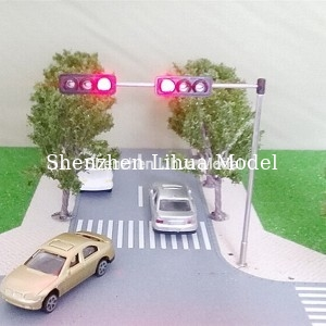 China model Mini Traffic Lights,3 aspect signal metal lamppost, model three aspect signal light,metal mini traffic lights distributor