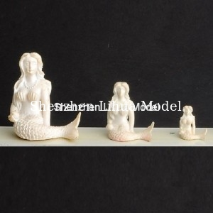 China fake mermaid sculpture,plastic model sculpture,doll house decoration,model accessories factory