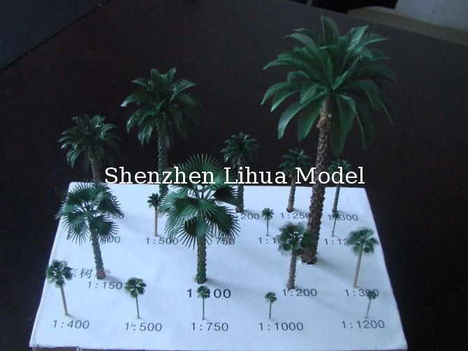 1:150 copper palm tree,1:50 model metal tree,miniature artificial trees,metal model palm trees,building model trees