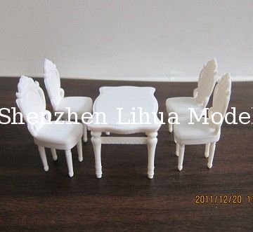 dinning table and chairs,model scale table,model chairs,Model House furniture scale 1:50 model chairs