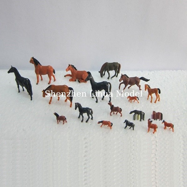 1:150 color horse,model animal,model horse,model material,HO animals,painted horses,colorful horses