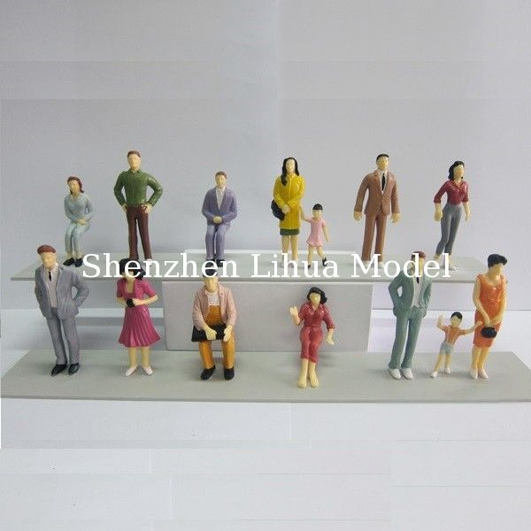 1:25 color figures,model figures,scale figure,painted figures,ABS figure,G gauge people,plastic mini  figures