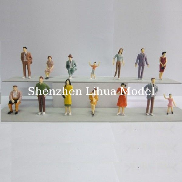 1:30 color figures,model figures,scale figures,plastic model people,painted ABS figures