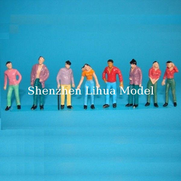 1:42 color normal scale figures--scale people,model figures architectural model figures